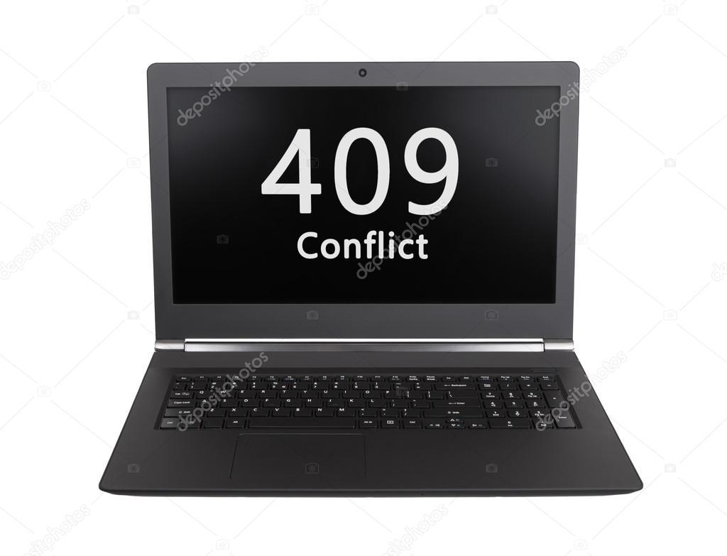 HTTP Status code - 409, Conflict \u2014 Stock Photo © michaklootwijk