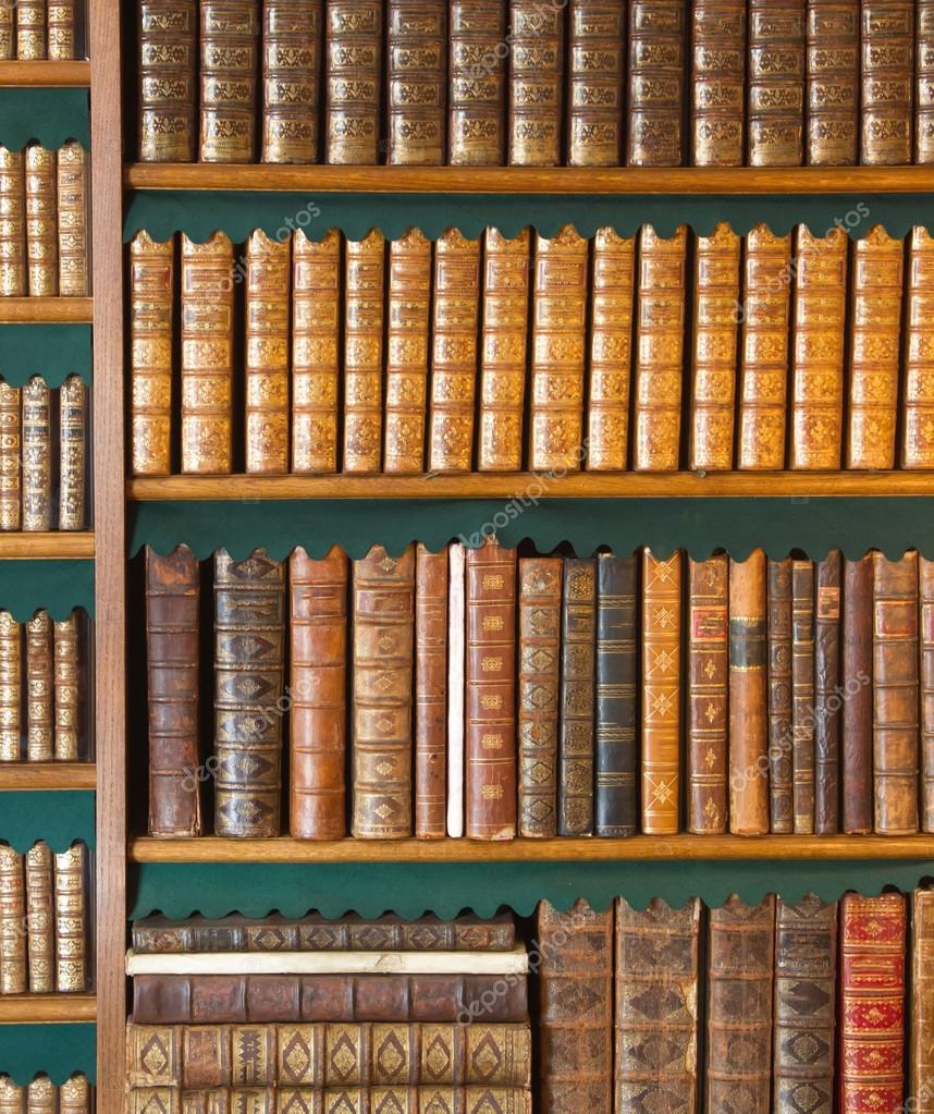 Boekenplank Met Boeken.Boekenplank Vintage Boeken Collectie Antieke Boek Getextureerde