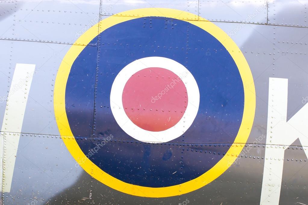 Round Symbol On An Old Dutch Warplane Stock Photo Michaklootwijk