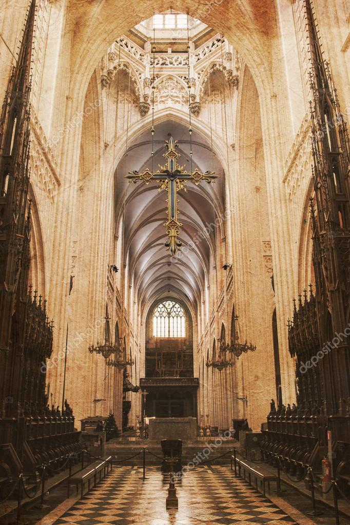 Inside Of A Creepy Old Church