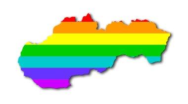 Rainbow flag pattern - Slovakia