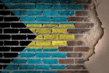 Dark brick wall with plaster - Bahamas
