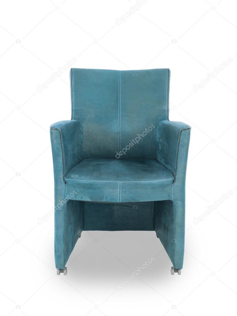 Blauw Leren Stoel.Blauw Leren Eetkamer Stoel Stockfoto C Michaklootwijk 60960449