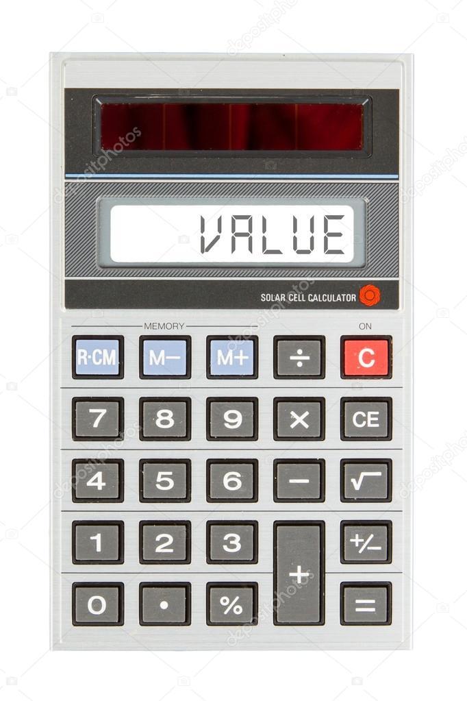 Old calculator - value — Stock Photo © michaklootwijk #67630451