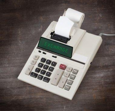 Old calculator - exchange