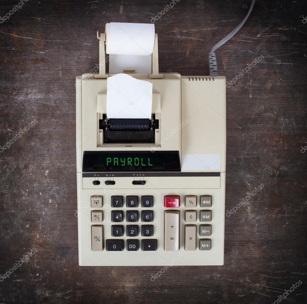 old calculator payroll stock photo michaklootwijk 74975789
