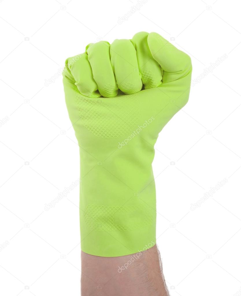 Rubber fist mitts