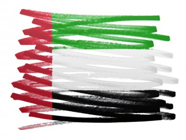 Flag illustration - United Arab Emirates