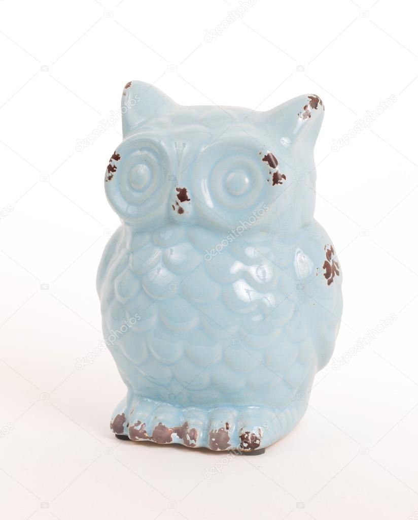Blaue Eule Geschenke Isoliert Stockfoto C Michaklootwijk 90926328