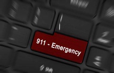 Red enter button written emergency