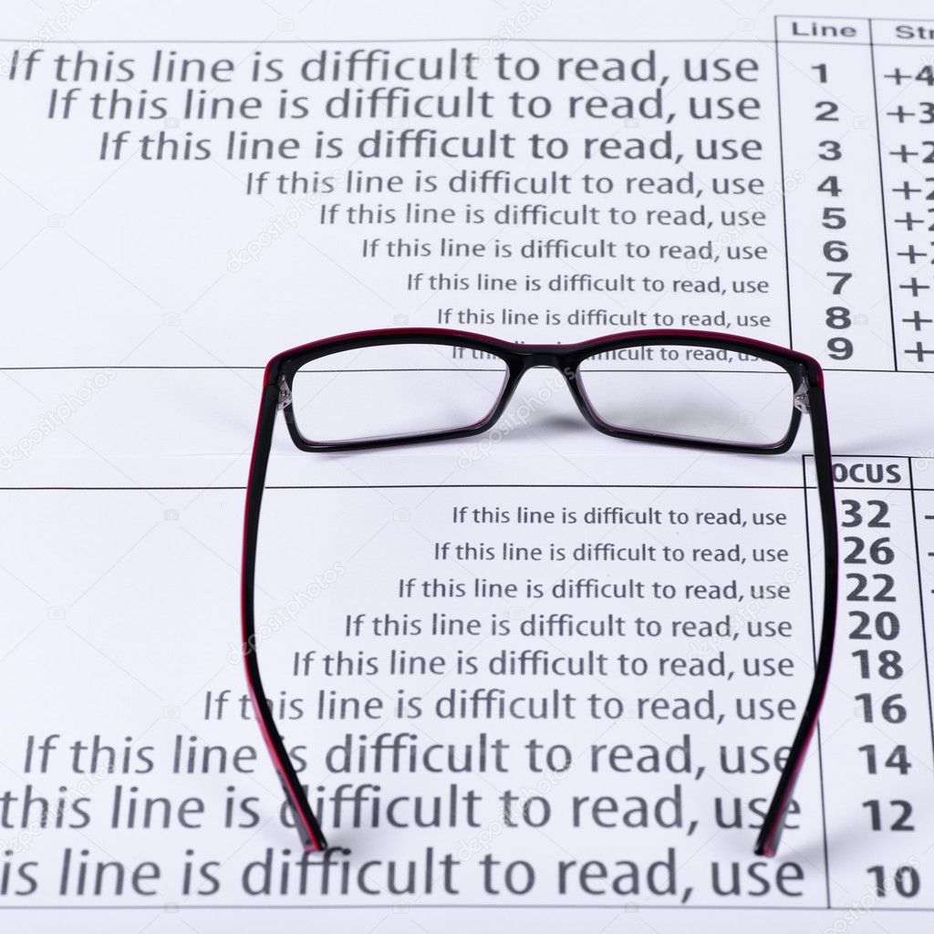 Eyeglasses and eye chart stock photo innaastakhova 69648011 reading black eyeglasses and eye chart close up on a light background photo by innaastakhova nvjuhfo Image collections