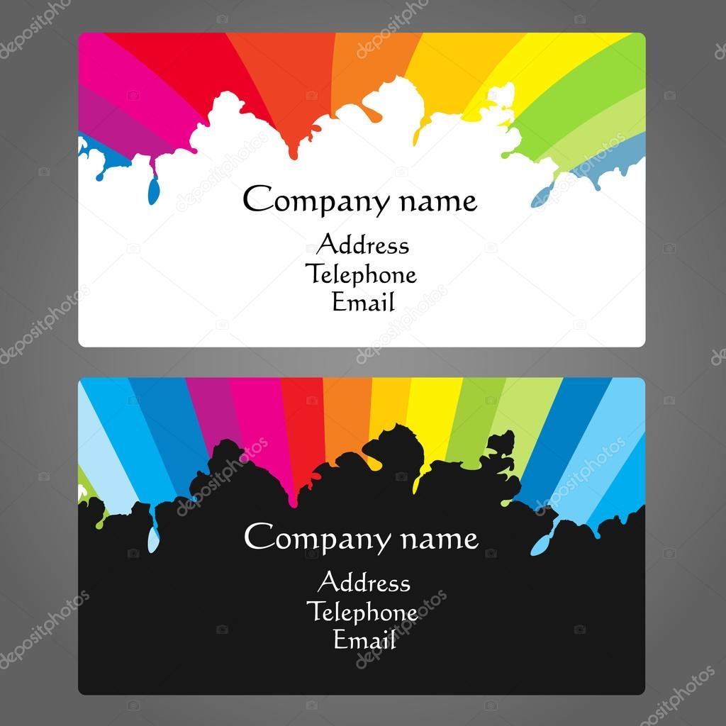 Business card for painting vector — Stock Vector © john1279 #122298300