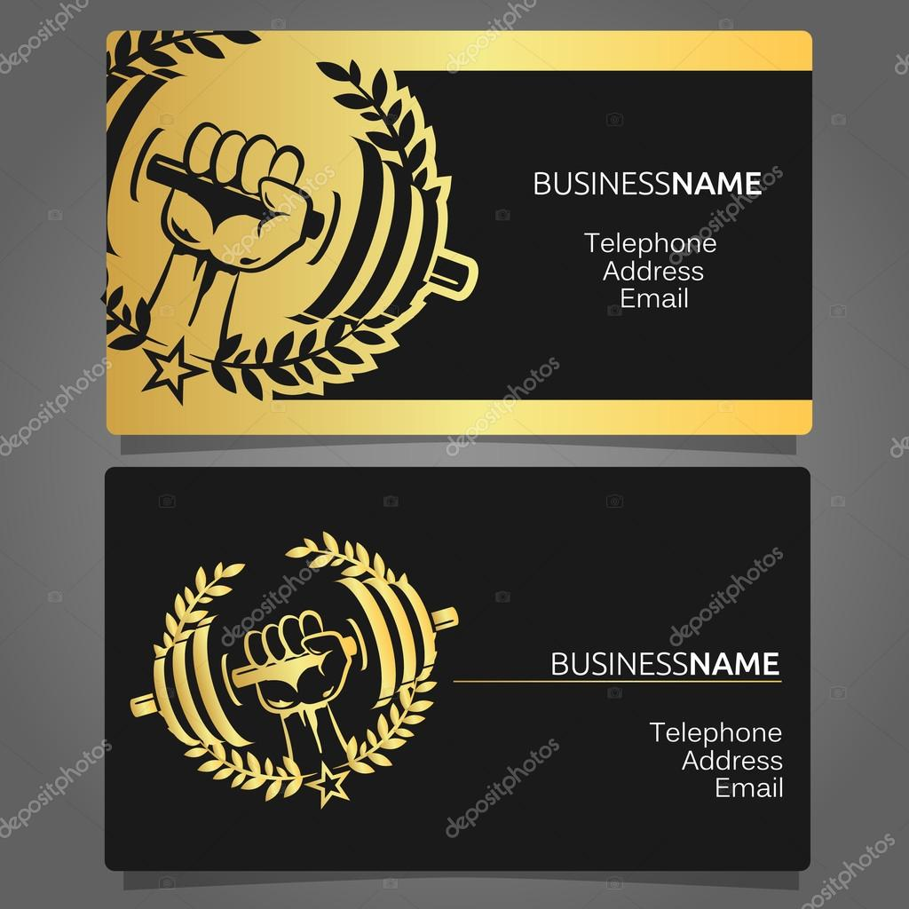 Business card for a gym — Stock Vector © john1279 #122298320