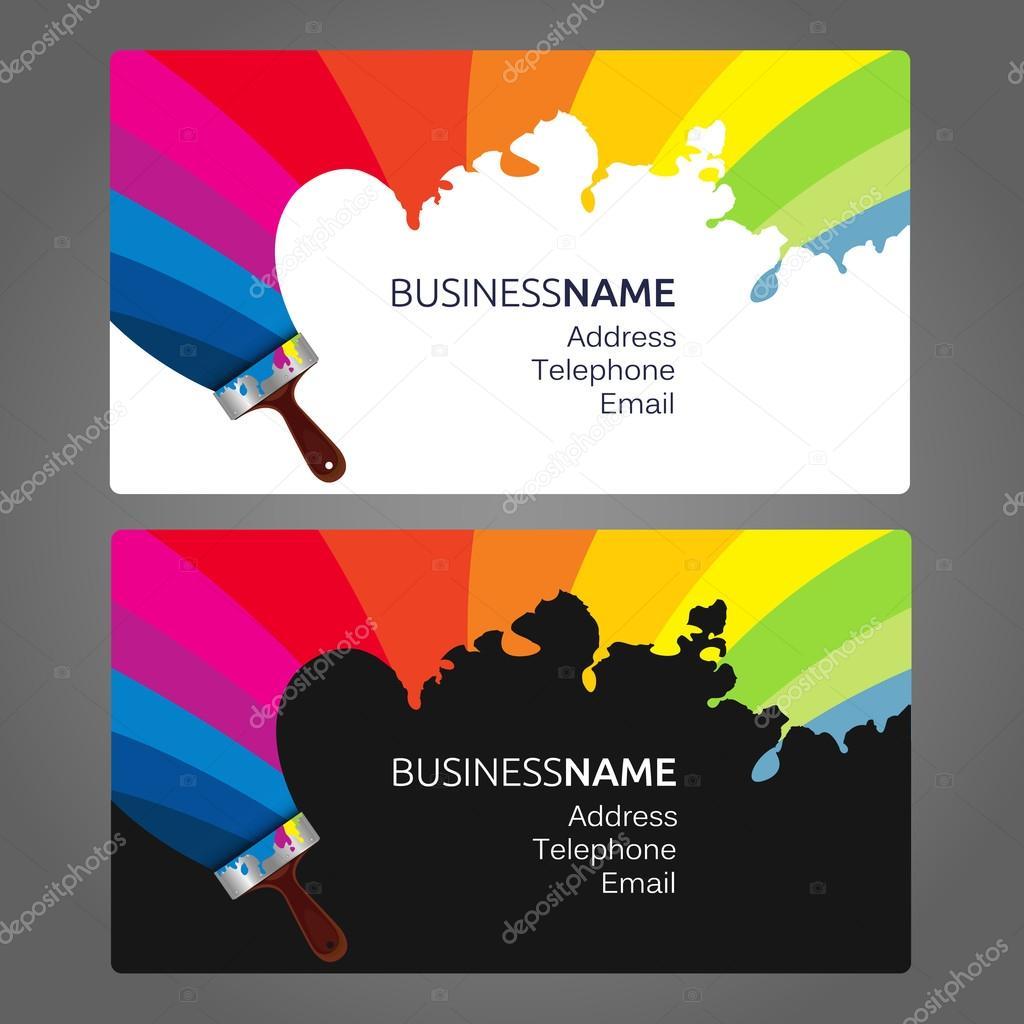 Business card Paint — Stock Vector © john1279 #122298672