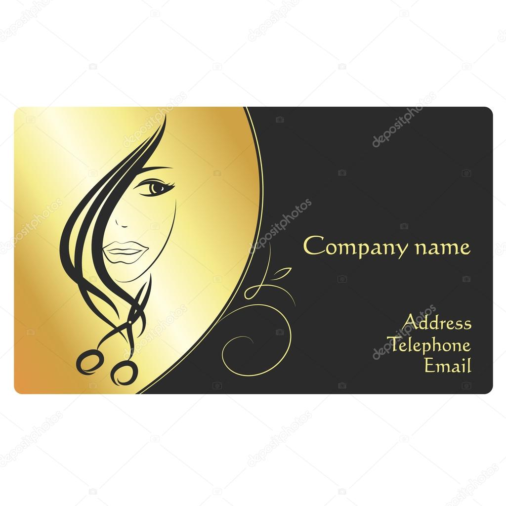 Beauty salon business card — Stock Vector © john1279 #122549928