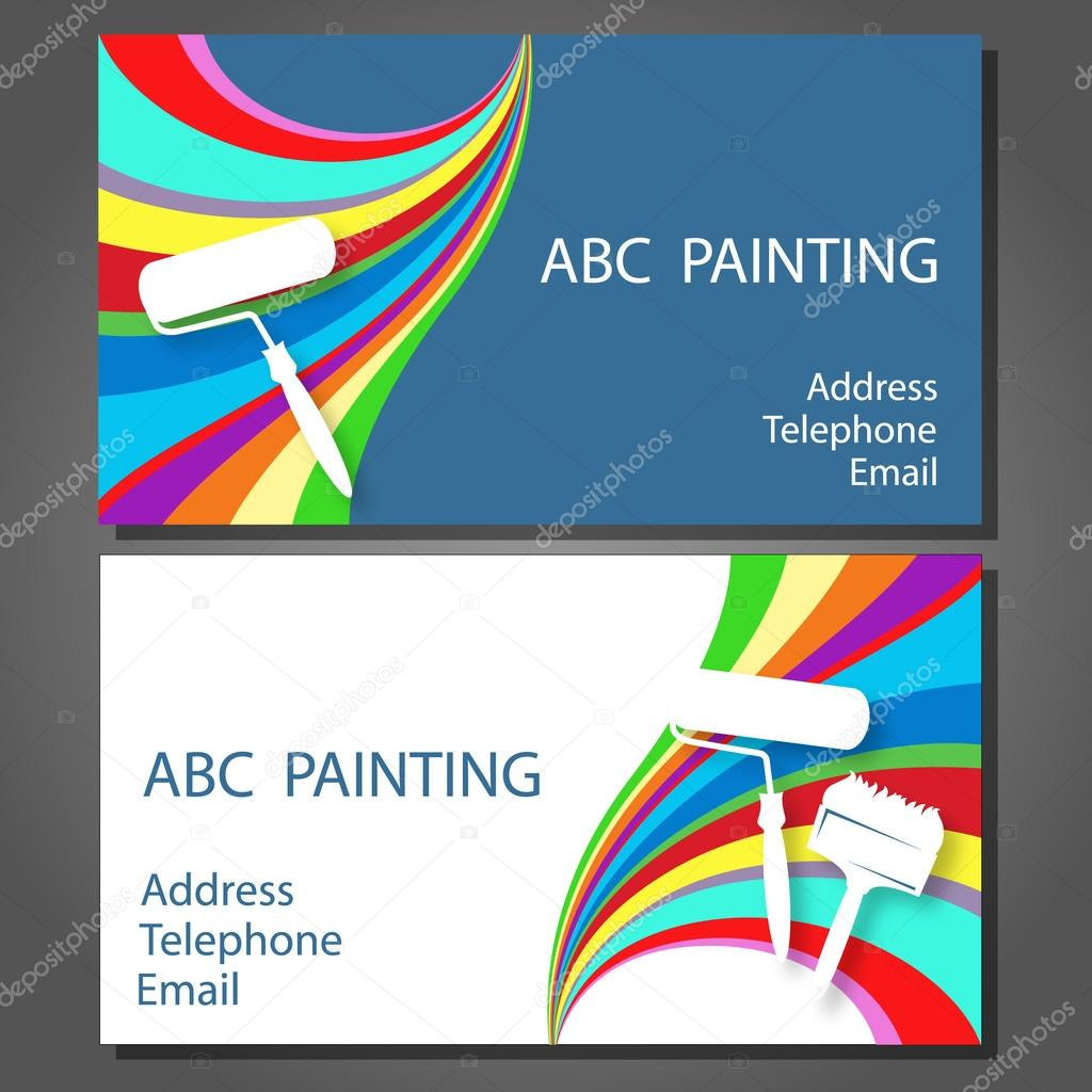 Business card for painting — Stock Vector © john1279 #57665767