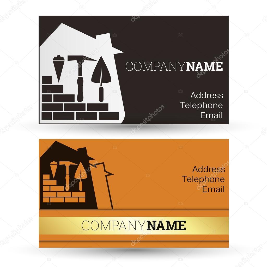 Business card construction — Stock Vector © john1279 #69410669