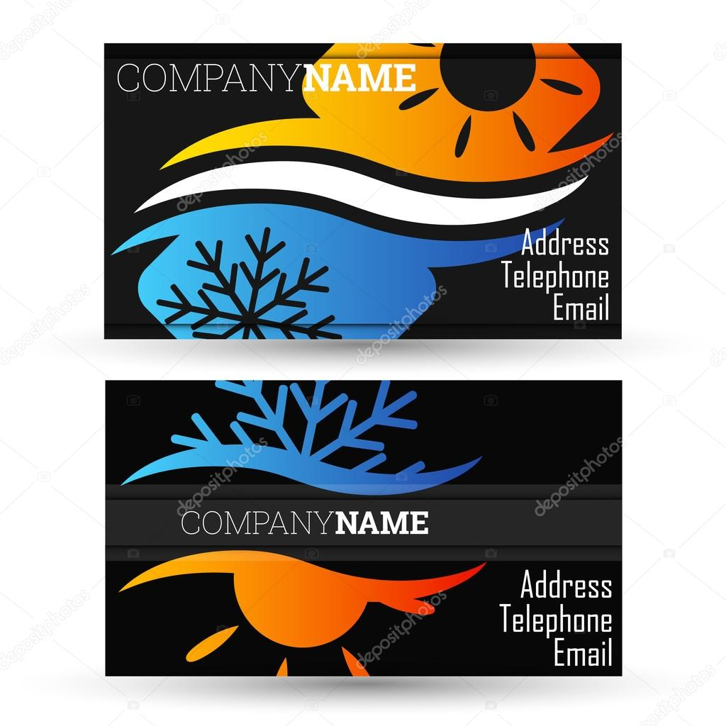 business card air conditioning — stock vector © john1279 #69410677