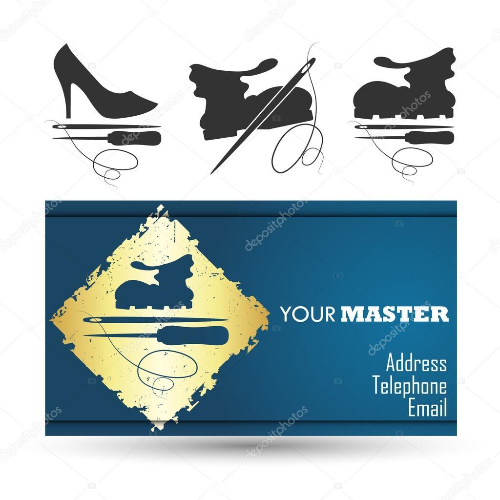 Визитки шаблоны скачать бесплатно ремонт обуви