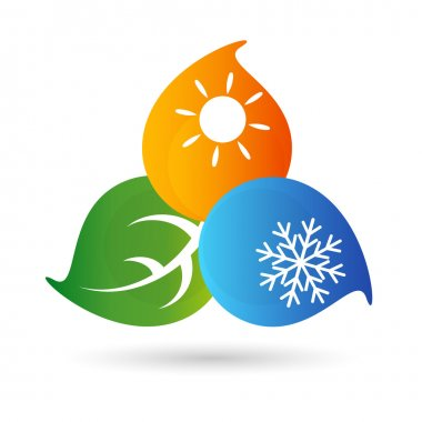 Air-conditioning environmental symbol for the vector clip art vector