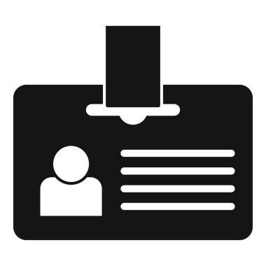 Headhunter id card icon, simple style