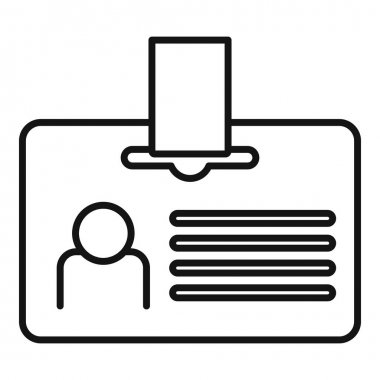 Headhunter id card icon, outline style