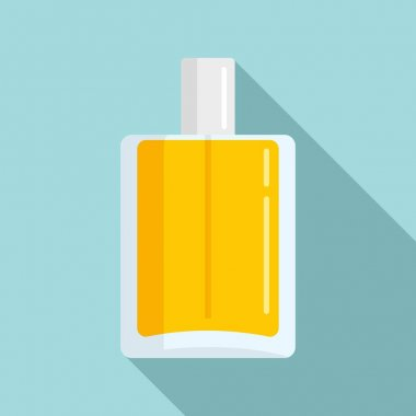Duty free perfume bottle icon. Flat illustration of duty free perfume bottle vector icon for web design icon