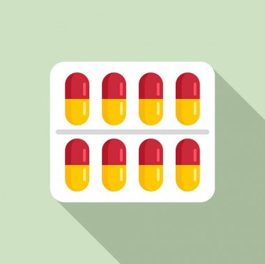 Measles pills pack icon. Flat illustration of measles pills pack vector icon for web design icon
