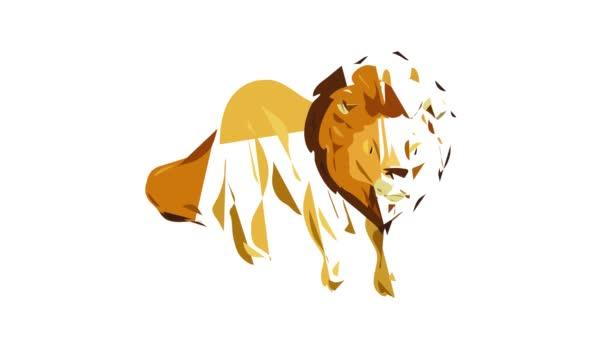 Lion icon animation