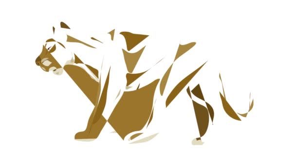 Lioness icon animation