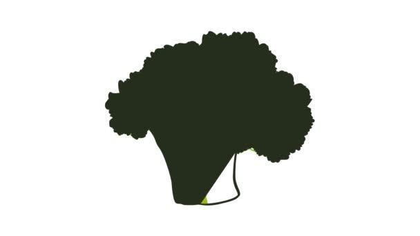 Animation mit grünem Brokkoli