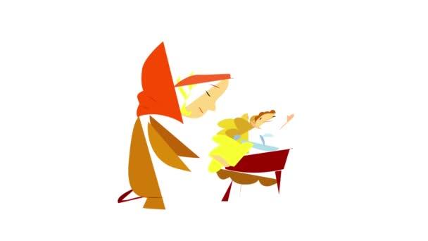 Animace ikon narození Ježíše