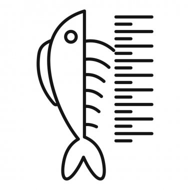 Lenght fish icon. Outline lenght fish vector icon for web design isolated on white background icon