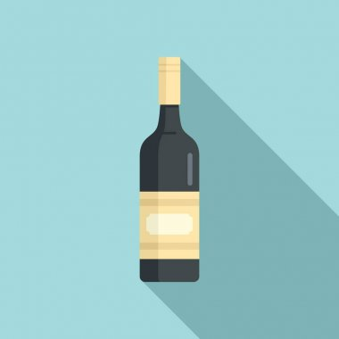 Wine bottle icon. Flat illustration of wine bottle vector icon for web design icon