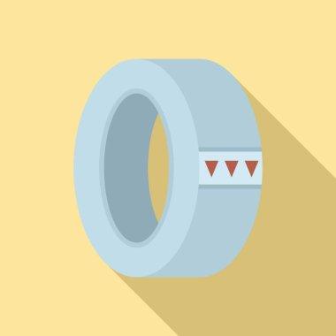 Masking tape icon. Flat illustration of masking tape vector icon for web design icon