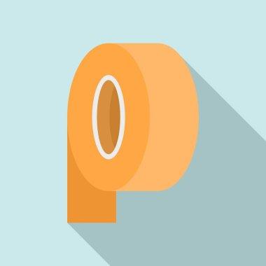 Paper tape scotch icon. Flat illustration of paper tape scotch vector icon for web design icon