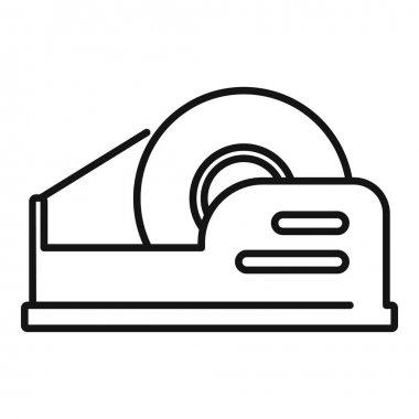 Dispenser scotch icon. Outline dispenser scotch vector icon for web design isolated on white background icon