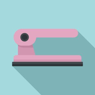 Hole punch stapler icon. Flat illustration of hole punch stapler vector icon for web design icon