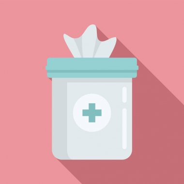 Antiseptic napkin icon. Flat illustration of Antiseptic napkin vector icon for web design icon