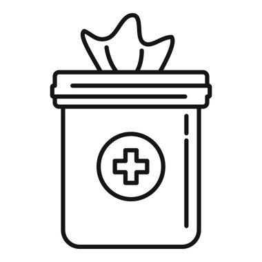 Antiseptic napkin icon. Outline Antiseptic napkin vector icon for web design isolated on white background icon