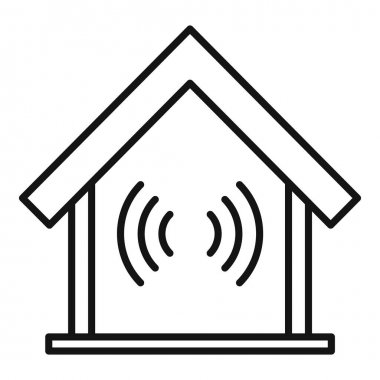 Soundproof home icon. Outline Soundproof home vector icon for web design isolated on white background icon