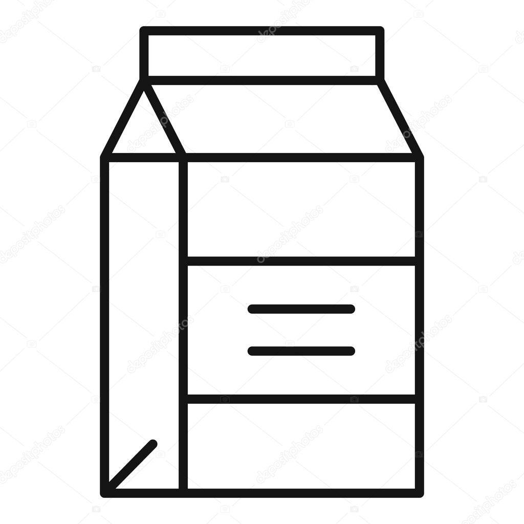 Tetrapack milk icon icon