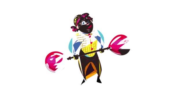 Animace ikon klaun balón činka