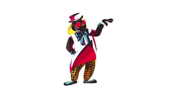 Animace ikon kouzelného klauna