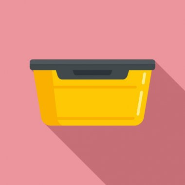 Food plastic box icon. Flat illustration of Food plastic box vector icon for web design icon
