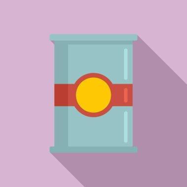 Flour jar icon. Flat illustration of Flour jar vector icon for web design icon