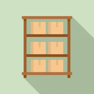 Parcel food storage icon. Flat illustration of Parcel food storage vector icon for web design icon
