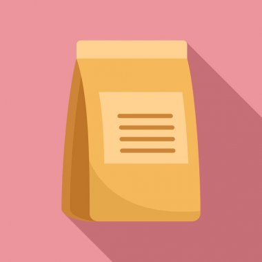 Food paper pack icon. Flat illustration of Food paper pack vector icon for web design icon
