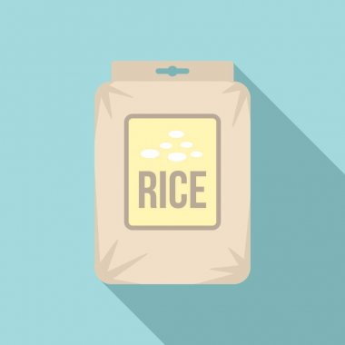 Rice pack icon. Flat illustration of Rice pack vector icon for web design icon