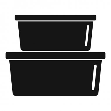 Plastic box stack icon. Simple illustration of Plastic box stack vector icon for web design isolated on white background icon